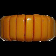 Butterscotch Bakelite Stretch Bracelet