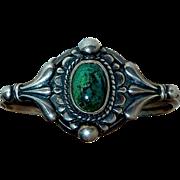 Sterling Cuff Bracelet Chrysocolla Cab