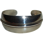 Modernist Denmark A&E Sterling Cuff Bracelet