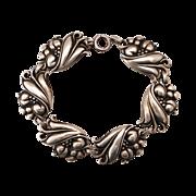 Viking Craft Sterling Arrowhead Leaf~Flower~Berry Bracelet