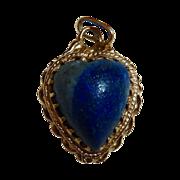 SALE 14k Lapis Heart Pendant or Charm