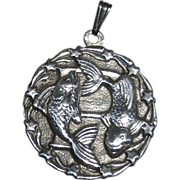 Sterling Swimming Fish Pendant/Charm~ Pisces?