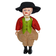 Adorable Boy Horseman Doll in Jodhpurs Riding Clothes