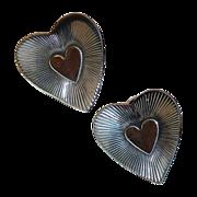 SALE Danecraft Sterling Heart Screw Earrings