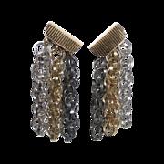 Napier Multi Chain Drop Screw-Clip Earrings