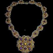 Austro~Hungarian Ornate Multi Jewel Necklace
