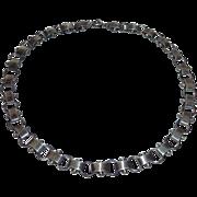 KALO Arts & Crafts Sterling Wide Link Necklace