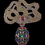 Best Art Deco Long Multi-Jewel Multi-Chain Necklace