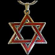 Siam Sterling & Enamel Judaic Star of David Pendant