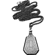Sterling Perfume Bottle Pendant & Chain