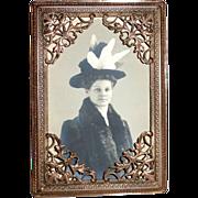 Sweet Bronze Picture Frame Filigree Corners