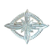 Deeply Carved Large Lucite Pin c1950s