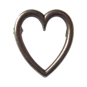 SALE Sterling Silver Perfect Heart Pin