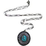 935 Sterling Yemenite Pin / Pendant & Chain