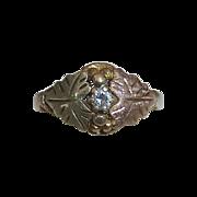 Black Hills Rose~Yellow~Green Gold 10k Diamond Ring