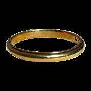 14k Yellow Gold Vintage Storestock Band Ring