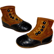 SOLD Antique Victorian Child's High Button Shoes