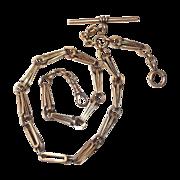 14k Antique Rose Gold Victorian Decorative Watch Chain