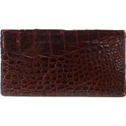 Genuine Alligator Checkbook Cover