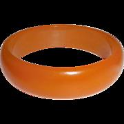 Translucent Tangerine Orange Bakelite Bangle Bracelet