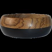 Bakelite & Wood Laminated Wide Bangle Bracelet