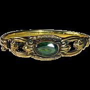 Antique Victorian GF Bracelet Tourmaline Glass