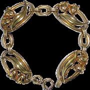 Walter Lampl Gold Filled Tulip Link Bracelet