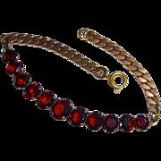 Rose Gold Filled Garnet Bracelet