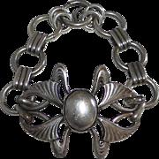 Antique Art Nouveau Sterling Link Bracelet
