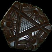 Art Deco Chunky Heavily Carved Bakelite Button