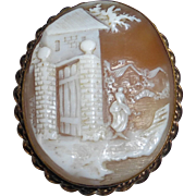 Antique Gold Filled Rebecca Shell Cameo