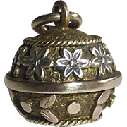 Antique Victorian 10k Sphere Fob Charm Pendant