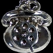 Sterling Vintage Kinetic Telephone Charm