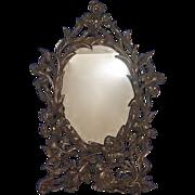 Art Nouveau Ornate Brass Floral Iris Design Picture Frame