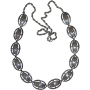 Beau Sterling Silver Textured Dome Link Necklace