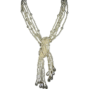 Faux Pearl 12 Strand Lariat Necklace