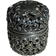 SOLD Unger Bro Sterling Filigree Chatelaine Sewing Thimble Case