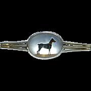 Essex Crystal Dobermann Pinscher Platinum Pin