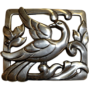 Coro Craft Sterling Graceful Bird Pin