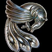 Viking Craft Sterling Exotic Bird Pin