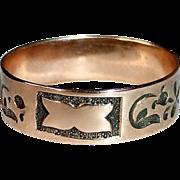 Victorian 10k Rose Gold Patterned Band Ring