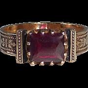 SOLD 14k Rose Gold Victorian Garnet Ring