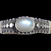 Granulated Balinese Sterling & Moonstone Ring
