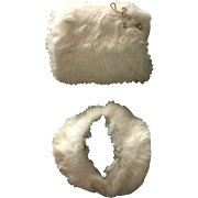 Vintage Child's Rabbit Fur Muff & Collar