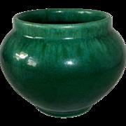 Semi Matte Green Blended Glaze Vase