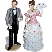 Southern Bell & Gentleman Porcelain Wedding Topper