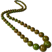 Bakelite Long Graduated EOD Graduated Bead Necklace