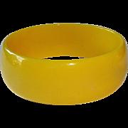 Sunny Yellow Bakelite Bangle Bracelet