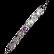 Paris France Souvenir Bracelet w Historic Landmarks