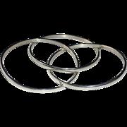 Sterling Silver Rolling Bangles Bracelet